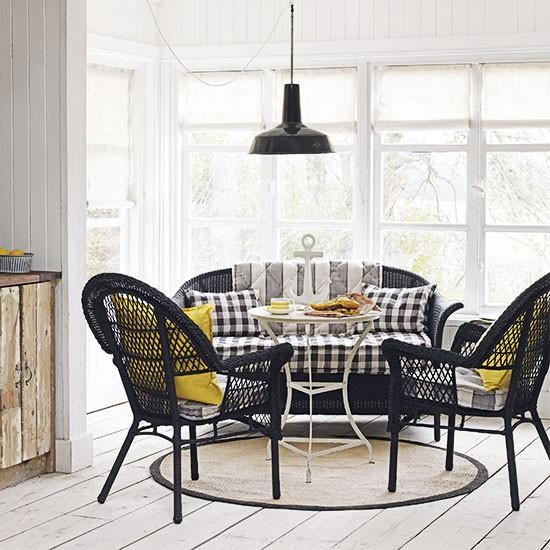 Nautical Home Decor Uk: Nautical Living Room With Black And White Checks