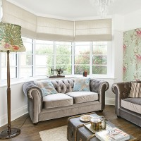 Use patterned wallpaper to add style and colour