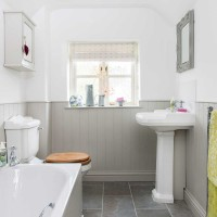 Be inspired by this light bright country bathroom