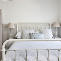 White bedroom with relaxed muted tones