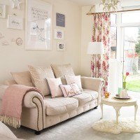 Spacious modern pastel living room