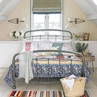 Pattern-filled country bedroom