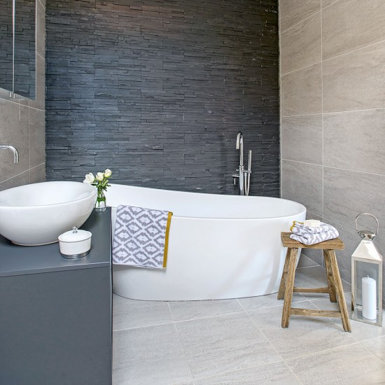 Use the same tiles on the floor and ceiling small for Small bathroom ideas uk