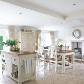 Be inspired by this freestanding country kitchen