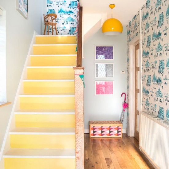 Hallway Be Inspired By This Vibrant Colourful Family