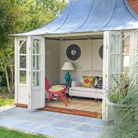 Country summerhouse with vibrant soft furnishings