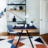 Smart home office with geometric designs