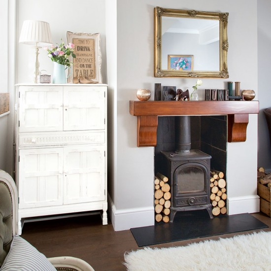 Cosy Living Room With Woodburning Stove Housetohomecouk