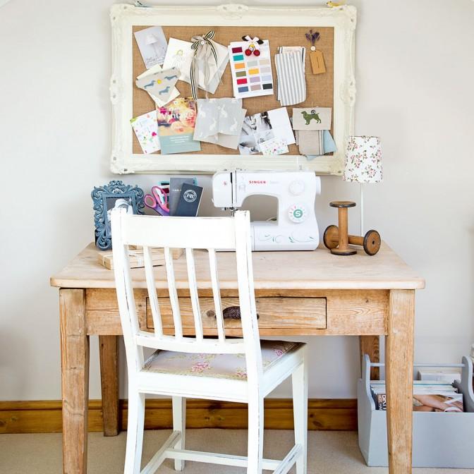 Snug craft corner in loft room