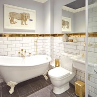 Compact bathroom transformed with a luxury look