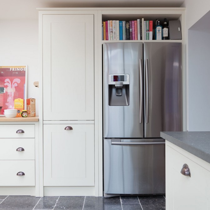 Classic kitchen with American-style fridge-freezer