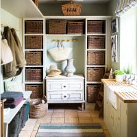 Traditional boot room with clever storage