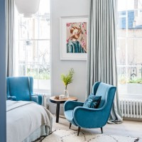 Master bedroom with quirky artwork