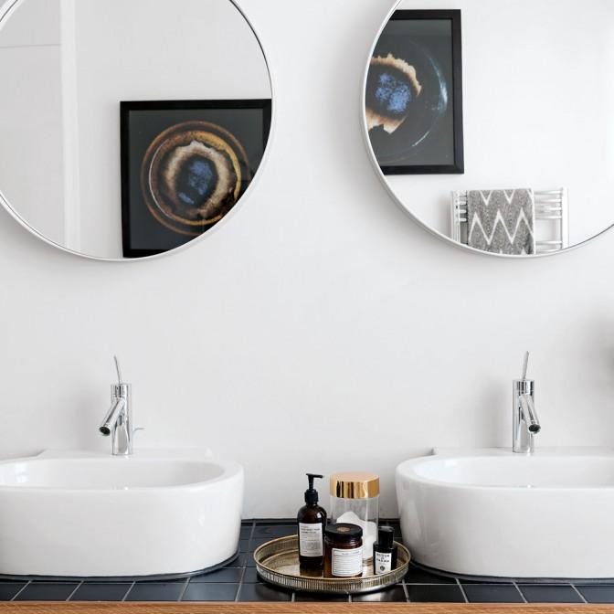 Bathroom with bespoke vanity units