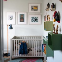 Baby's bedroom with wall art