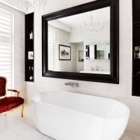 Master bathroom with slipper bath