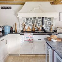Cream country kitchen with range cooker