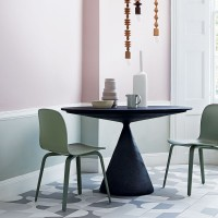 Contemporary geometric dining room