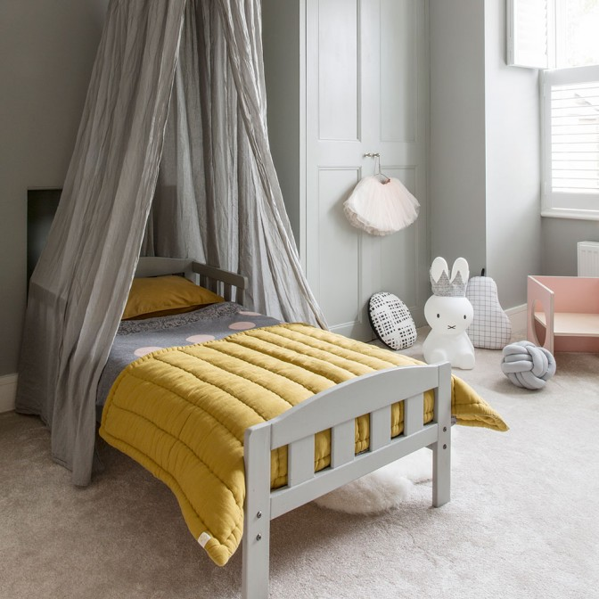 Modern children's bedroom with a whimsical twist