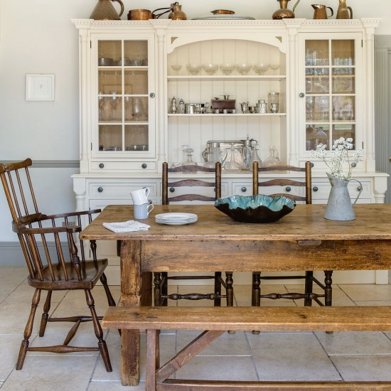 Rustic Country Kitchen With Brass Accessories