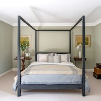 Modern guest bedroom with statement bed