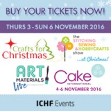 Get your tickets for our Craft, Cake, Art and Christmas Events!