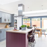 Check out this grey kitchen that's anything but bland