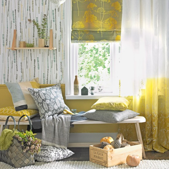 Country Style Yellow And Grey Living Room Housetohome Co Uk