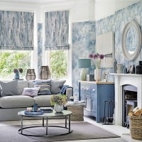 Modern living room with cosy coastal style