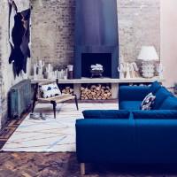 Petrol blue, dramatic living room