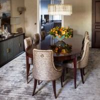 Period dining room with modern decor