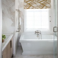 Glittering gold and marble bathroom