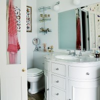Classic bathroom with marble-topped washstand
