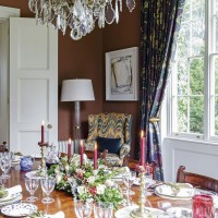 Multicoloured traditional dining room
