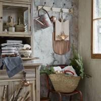 Country corner with hanging kitchenalia
