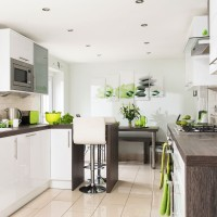 Take a look around this sleek kitchen-diner with modern, vibrant touches