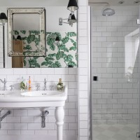 Modern family bathroom with Period influences