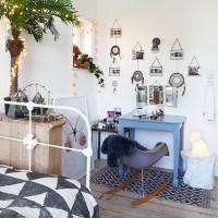 Scandi-style bedroom dressing area