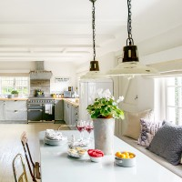 Neutral country kitchen with rustuc features