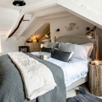 Master bedroom with rustic furniture