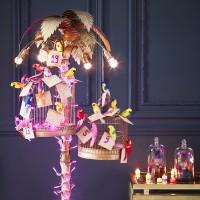 Floor-lamp turned advent calendar
