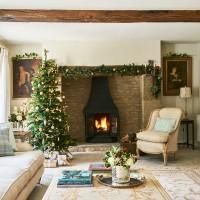 Festive sitting room dressed for Christmas