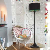 Festive living room with colourful decor