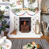 Quirky Christmas living room