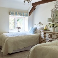 Traditional English Cottage bedroom with French designs